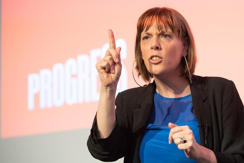 Jess Phillips speaking at the Progress annual conference at the TUC Congress Centre in Great Russell Street, London. (Photo by Dominic Lipinski/PA Images via Getty Images)