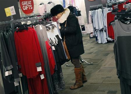 A woman shops for jeans at a J.C. Penney store in New York