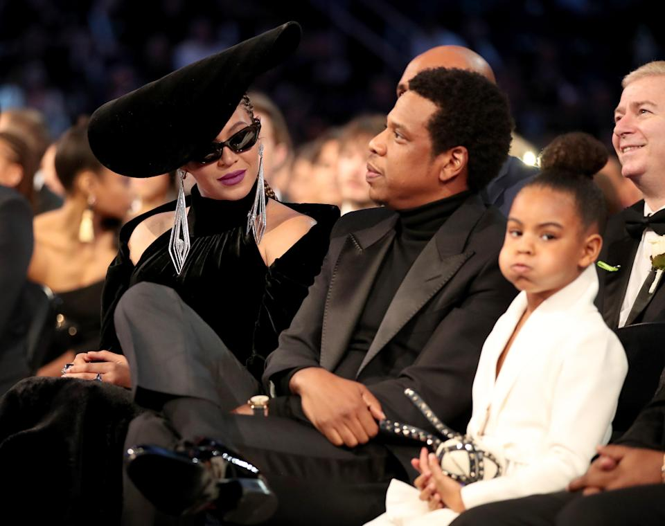 "Blue Ivy is literally the only person on the planet who could <a href=""https://www.glamour.com/story/blue-ivy-telling-beyonce-calm-down-2018-grammys?mbid=synd_yahoo_rss"" rel=""nofollow noopener"" target=""_blank"" data-ylk=""slk:signal to Beyoncé and Jay Z"" class=""link rapid-noclick-resp"">signal to Beyoncé and Jay Z</a> to calm down. Honestly, it was probably the biggest moment from the 2018 Grammy Awards—maybe ever."