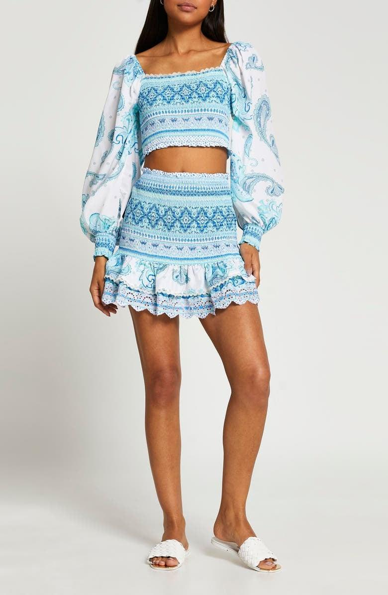 <p><span>River Island Smock Cover-Up Top</span> ($50) and <span>River Island Paisley Smock Cover-Up Skirt</span> ($50)</p>
