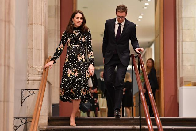 Kate Middleton toured the National Portrait Gallery. (Photo by Ben Stansall/Getty Images)