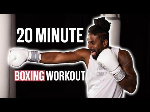 """<ul><li><strong>Equipment: </strong>None, bag optional</li></ul><p>Go four rounds with FightCamp instructor PJ as he takes you through a boxing workout that can be done with or without a bag. You'll do the following basic boxing punches: jab, cross, lead hook, rear hook, lead uppercut and rear uppercut.</p><p><a href=""""https://www.youtube.com/watch?v=Cx6JfrRO4eA&ab_channel=FightCamp"""" rel=""""nofollow noopener"""" target=""""_blank"""" data-ylk=""""slk:See the original post on Youtube"""" class=""""link rapid-noclick-resp"""">See the original post on Youtube</a></p>"""