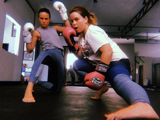"""<p>Working out is always more fun in good company, something Brie and her pal, Jenni, know well. The duo shared a post-workout selfie flexing their boxing fit – pink-faced after a spicy sesh.</p><p>Grab a friend and try one of these 14 <a href=""""https://www.womenshealthmag.com/uk/fitness/workouts/g26581883/partner-workouts/"""" rel=""""nofollow noopener"""" target=""""_blank"""" data-ylk=""""slk:partners workouts"""" class=""""link rapid-noclick-resp"""">partners workouts</a>. </p><p><a href=""""https://www.instagram.com/p/BpatYfQjZkm/"""" rel=""""nofollow noopener"""" target=""""_blank"""" data-ylk=""""slk:See the original post on Instagram"""" class=""""link rapid-noclick-resp"""">See the original post on Instagram</a></p>"""