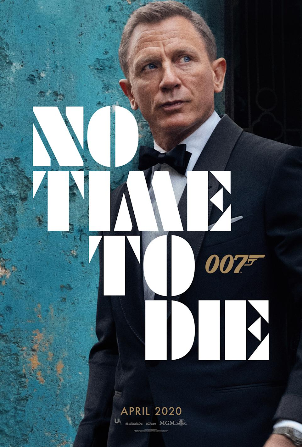 The first poster released for <em>No Time To Die</em>. (Universal/MGM/Eon)