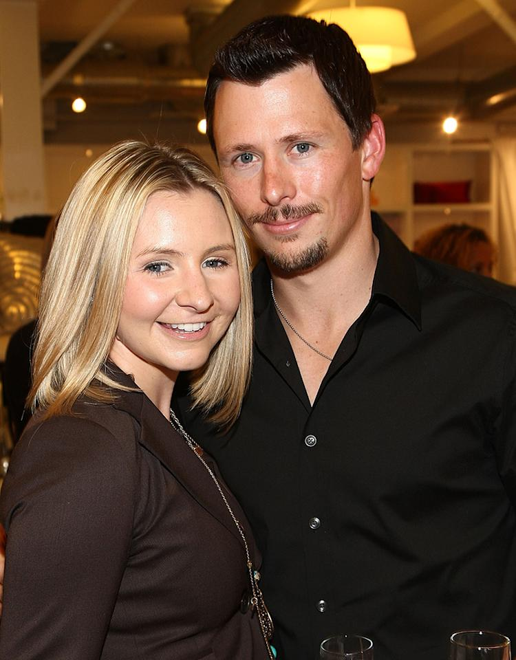 """SANTA MONICA, CA - APRIL 30:  ***EXCLUSIVE COVERAGE*** Actress Beverley Mitchell and husband Michael Cameron attend Tracy Hutson's """"Feathering the Nest"""" book party at Calypso Home on April 30, 2009 in Santa Monica, California.  (Photo by Alberto E. Rodriguez/Getty Images) *** Local Caption *** Beverley Mitchell;Michael Cameron"""