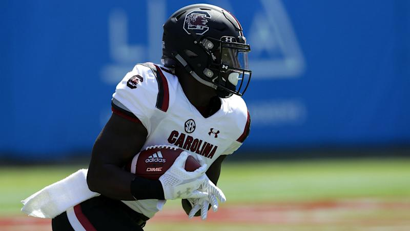 South Carolina WR Samuel sidelined with leg injury