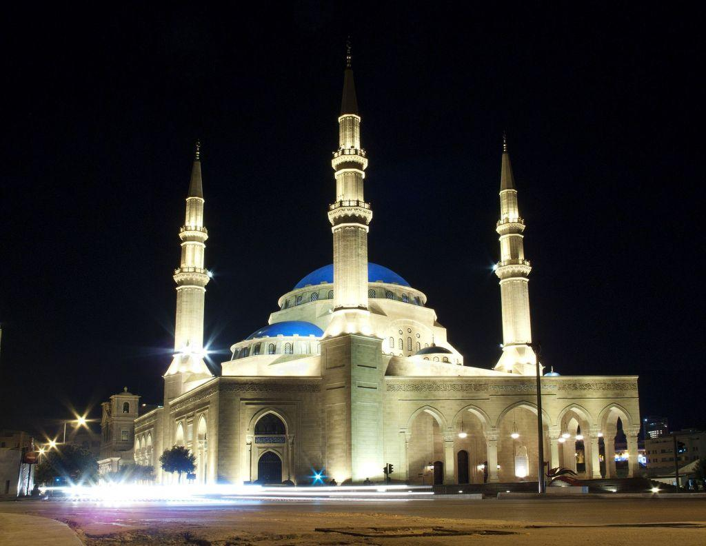 <b>BEIRUT, LEBANON:</b> The Mohammad Al-Amin mosque is located in Martyrs' Square in downtown Beirut. The blue-domed mosque is inspired by the Blue Mosque in Istanbul.