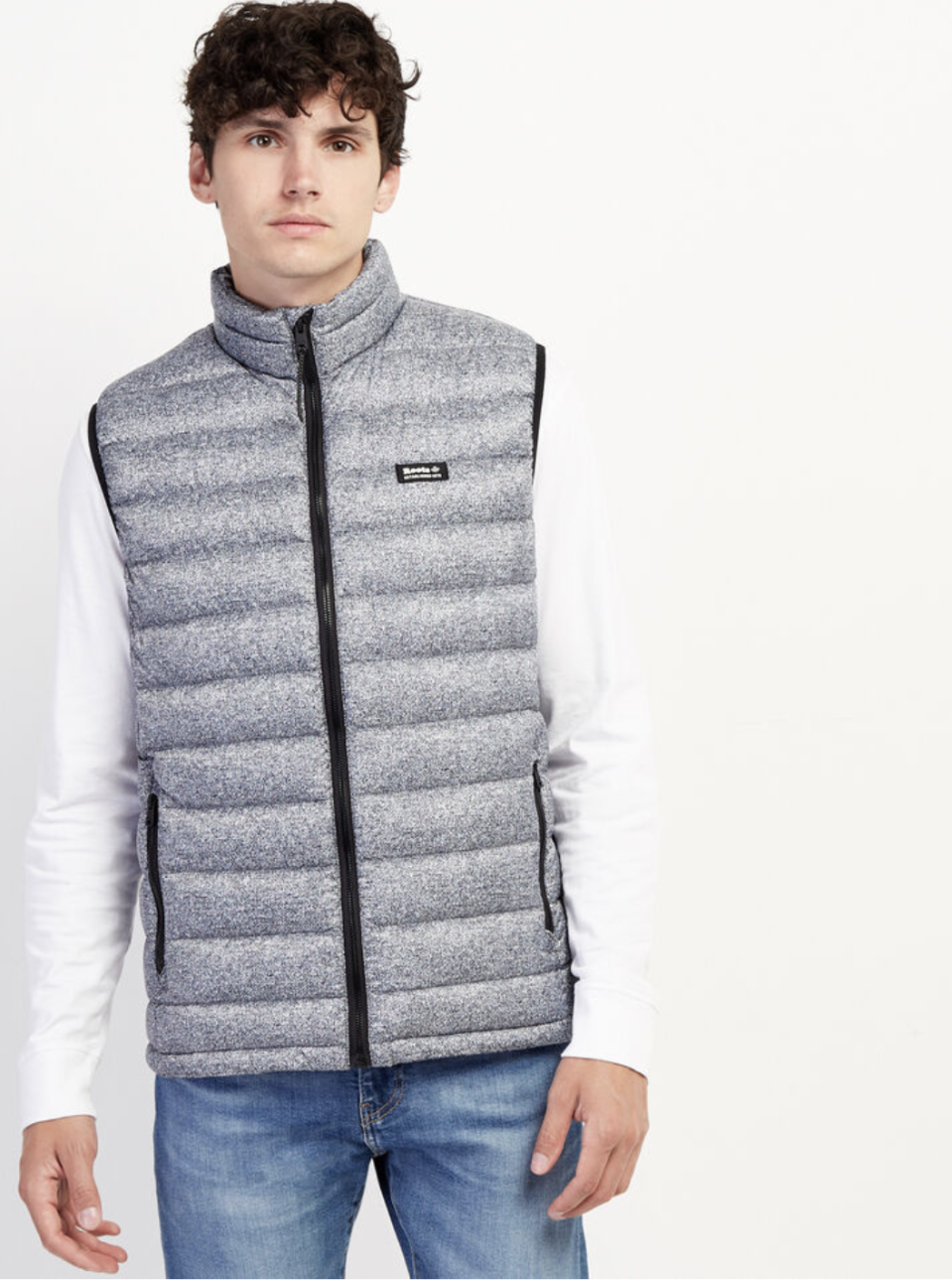 Roots Packable Down Vest. Image via Roots.