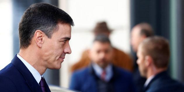 Spain's Prime Minister Pedro Sanchez arrives at Parliament in Madrid, Spain, February 12, 2019. REUTERS/Juan Medina