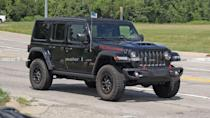 """<p>It looks like the V8-powered Jeep Wrangler really is going into production. This one appears ready to hit dealers already.</p> <h3><a href=""""https://www.motor1.com/news/435105/jeep-wrangler-rubicon-392-spied/"""" rel=""""nofollow noopener"""" target=""""_blank"""" data-ylk=""""slk:Jeep Wrangler Rubicon 392 V8 Spied In Production Spec On The Road"""" class=""""link rapid-noclick-resp"""">Jeep Wrangler Rubicon 392 V8 Spied In Production Spec On The Road</a></h3> <br><a href=""""https://www.motor1.com/news/433724/jeep-wrangler-v8-production-rumor/"""" rel=""""nofollow noopener"""" target=""""_blank"""" data-ylk=""""slk:Jeep Wrangler V8 Is Going Into Production: Report"""" class=""""link rapid-noclick-resp"""">Jeep Wrangler V8 Is Going Into Production: Report</a><br><a href=""""https://www.motor1.com/news/433659/jeep-wrangler-rubicon-392-concept/"""" rel=""""nofollow noopener"""" target=""""_blank"""" data-ylk=""""slk:V8-Powered Jeep Wrangler Rubicon 392 Concept Revealed On Bronco's Big Day"""" class=""""link rapid-noclick-resp"""">V8-Powered Jeep Wrangler Rubicon 392 Concept Revealed On Bronco's Big Day</a><br>"""