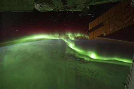 NASA photograph of Aurora Australis, or ?Southern Lights? over the Indian Ocean