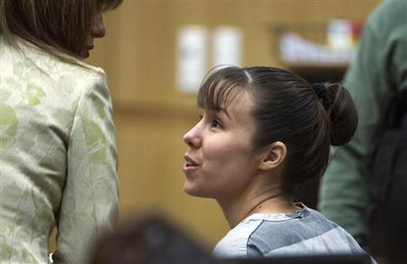 Jodi Arias talks with her defense attorney Jennifer Wilmott during a hearing in Maricopa County Superior Court in Phoenix Arizona