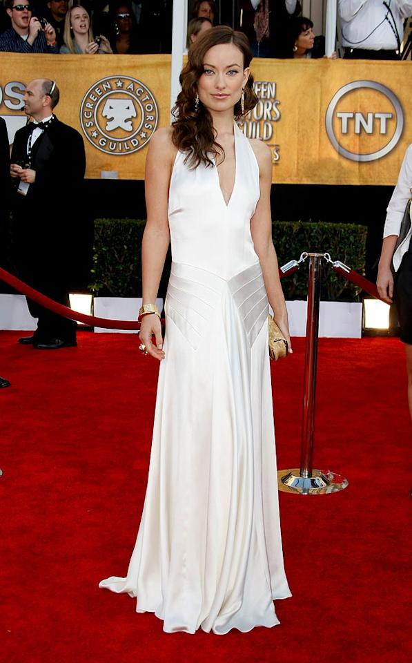 """<a href=""""/olivia-wilde/contributor/1232875"""">Olivia Wilde</a> arrives at the <a href=""""/the-15th-annual-screen-actors-guild-awards/show/44244"""">15th Annual Screen Actors Guild Awards</a> held at the Shrine Auditorium on January 25, 2009 in Los Angeles, California."""