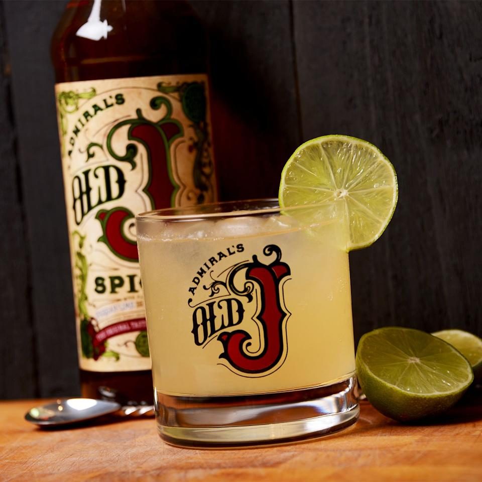 <p>Mix 25ml Old J Spiced Rum with 5ml fresh lime. Top with Ting (a fizzy  Caribbean drink), and serve over ice, garnish with a wedge of lime</p>