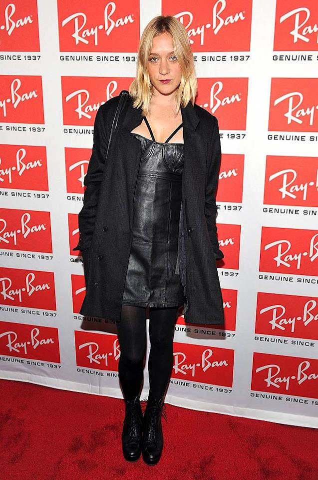 """Big Love's"" Chloe Sevigny donned an all-black, rock-and-roll leather ensemble that left her looking ... a little sad, no? Theo Wargo/<a href=""http://www.wireimage.com"" target=""new"">WireImage.com</a> - May 12, 2010"