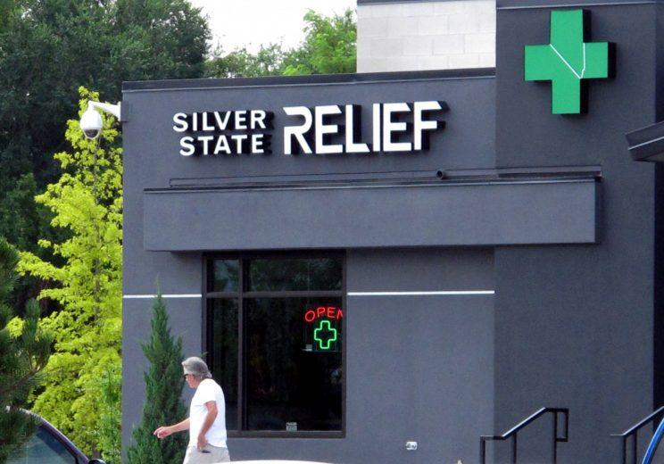 A man walks past the Silver State Relief medical marijuana dispensary in Sparks, Nev., Friday, July 31, 2015. (Photo: Scott Sonner/AP)