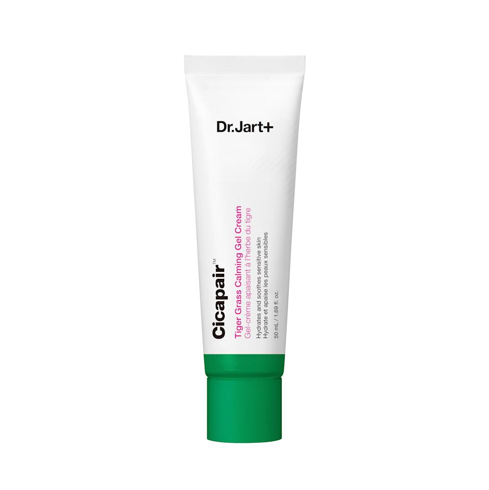 """Extremely lightweight in texture and feel, Dr. Jart+'s Cicapair Tiger Grass Calming Gel Cream contains glycerin, <a href=""""https://www.allure.com/story/niacinamide-skin-care-redness-side-effect?mbid=synd_yahoo_rss"""" rel=""""nofollow noopener"""" target=""""_blank"""" data-ylk=""""slk:niacinamide"""" class=""""link rapid-noclick-resp"""">niacinamide</a>, cica, and the brand's proprietary microbiome complex to not only moisturize skin and soothe irritation, but strengthen your skin's defensive abilities as well. Dr. Jart's Cicapair line is a favorite among skin-care enthusiasts, but the Calming Gel Cream takes the cake in terms of no-fuss, daytime moisturizers, which is why it won a 2020 <em>Allure</em> Best of Beauty Award."""