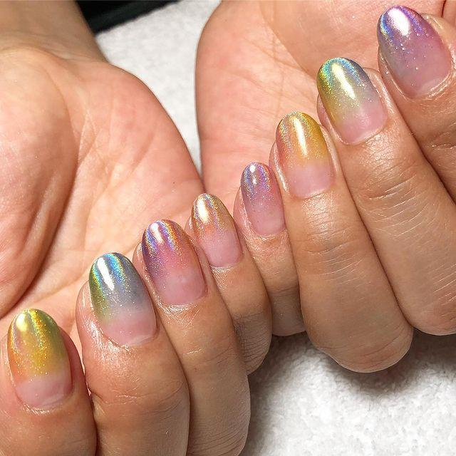 """<p>Who said you can't have a pastel, ombre, glitter, holographic manicure in one?!</p><p><a href=""""https://www.instagram.com/p/By258avB3On/"""" rel=""""nofollow noopener"""" target=""""_blank"""" data-ylk=""""slk:See the original post on Instagram"""" class=""""link rapid-noclick-resp"""">See the original post on Instagram</a></p>"""