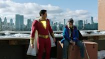 Warner Bros changed tack with a brighter, funnier superhero effort, starring Zachary Levi as the superhero previously known as Captain Marvel. The movie went down well, achieving real buzz from fans and critics. (Credit: Warner Bros)