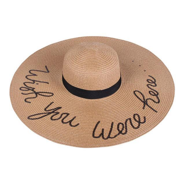"""<p>A cute straw hat is a must-have for the beach and beyond, and this version - complete with """"Wish you were here..."""" embroidered with sequins - is a real head-turner. ($16.99; <a href=""""https://www.walmart.com/ip/Amtal-Women-Wish-You-Were-Here-Embroided-Sequins-Floppy-Beach-Hat-w-Ribbon-Trim/827540991"""" rel=""""nofollow noopener"""" target=""""_blank"""" data-ylk=""""slk:walmart.com"""" class=""""link rapid-noclick-resp"""">walmart.com</a>)</p><p><strong><a href=""""https://www.walmart.com/ip/Amtal-Women-Wish-You-Were-Here-Embroided-Sequins-Floppy-Beach-Hat-w-Ribbon-Trim/827540991"""" rel=""""nofollow noopener"""" target=""""_blank"""" data-ylk=""""slk:BUY NOW"""" class=""""link rapid-noclick-resp"""">BUY NOW</a></strong><br></p><p><strong>RELATED: <a href=""""http://www.redbookmag.com/beauty/hair/advice/g840/hair-color-trends/"""" rel=""""nofollow noopener"""" target=""""_blank"""" data-ylk=""""slk:The 14 Biggest Hair Color Trends for Summer 2017"""" class=""""link rapid-noclick-resp"""">The 14 Biggest Hair Color Trends for Summer 2017</a></strong><br></p>"""