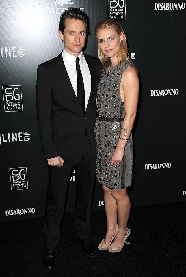 """Supported by some hot arm candy -- her hubby Hugh Dancy -- Claire Danes was elegant in an embellished gray frock paired with nude heels. Jordan Strauss/<a href=""""http://www.wireimage.com"""" target=""""new"""">WireImage.com</a> - February 22, 2011"""