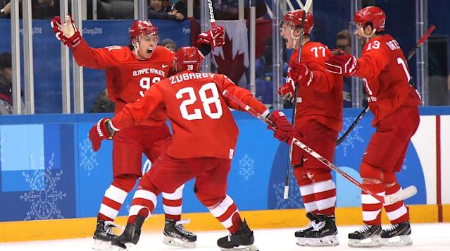 Olympic Athletes From Russia Beat Germany in Overtime to Take Men's Hockey Gold Medal