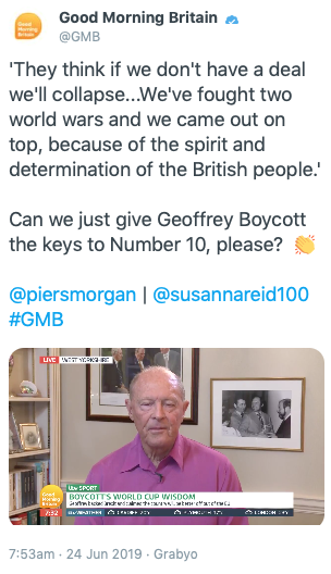 Good Morning Britain has since deleted the tweet. (Twitter)