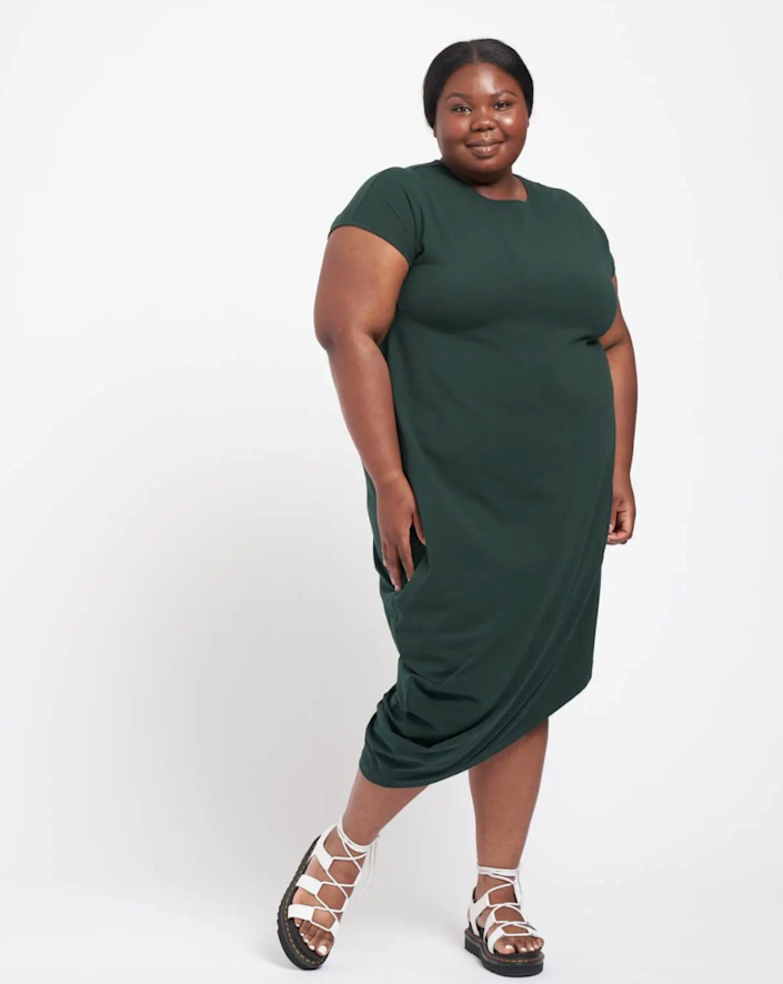 """<h2>Universal Standard Iconic Geneva Dress</h2><br><strong><em>The Closet Chameleon</em></strong><br><br>This dress is one of Universal Standard's most popular styles, and the reasons are pretty obvious: It's versatile, sleek, and pretty much feels like wearing an extra-long t-shirt all day long. Dress it up, dress it down — however you decide to wear it, this piece is guaranteed to please. <br><br><strong>The Hype: </strong>4.5 out of 5 stars; 122 reviews on Universalstandard.com<br><br><strong>What They're Saying</strong>: """"Queen Chameleon: The dress is a beautiful color and it fits splendidly. So many compliments... I have worn it dressed up, and dressed down, and my co-workers thought I had worn two different dresses."""" — Lorraine C., Universal Standard reviewer<br><br><em>Shop</em> <strong><a href=""""https://www.universalstandard.com/products/iconic-geneva-dress-forest-green"""" rel=""""nofollow noopener"""" target=""""_blank"""" data-ylk=""""slk:Universal Standard"""" class=""""link rapid-noclick-resp""""><em>Universal Standard</em></a></strong><br><br><strong>Universal Standard</strong> Iconic Geneva Dress, $, available at <a href=""""https://go.skimresources.com/?id=30283X879131&url=https%3A%2F%2Fwww.universalstandard.com%2Fproducts%2Ficonic-geneva-dress-forest-green"""" rel=""""nofollow noopener"""" target=""""_blank"""" data-ylk=""""slk:Universal Standard"""" class=""""link rapid-noclick-resp"""">Universal Standard</a>"""