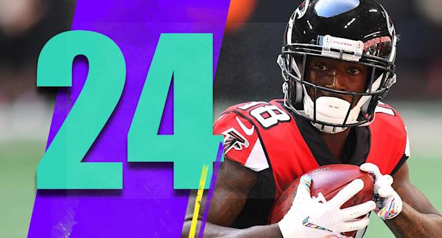 <p>It's hard to see the offense winning enough shootouts to get this team in the playoffs, no matter how good Matt Ryan and friends have been. (Calvin Ridley) </p>