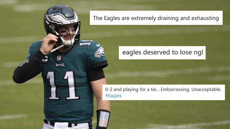 Fans are (rightfully) treating Eagles-Bengals tie like a loss on social media