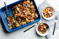 """Plenty of bacon and a quick trip under the broiler adds salty, smoky crunch to this cheeky casserole version of the classic sandwich. Serve it for <a href=""""https://www.epicurious.com/recipes-menus/best-brunch-recipes-relaxing-weekend-breakfast-gallery?mbid=synd_yahoo_rss"""" rel=""""nofollow noopener"""" target=""""_blank"""" data-ylk=""""slk:brunch"""" class=""""link rapid-noclick-resp"""">brunch</a>, and you don't have to make individual eggs for everyone in your house. <a href=""""https://www.epicurious.com/recipes/food/views/blt-casserole?mbid=synd_yahoo_rss"""" rel=""""nofollow noopener"""" target=""""_blank"""" data-ylk=""""slk:See recipe."""" class=""""link rapid-noclick-resp"""">See recipe.</a>"""