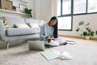 """<p>Journaling can help you take stock of your life as it is and find ways you can create positive change. """"Taking stock of yourself helps you realize what works and what needs to be changed,"""" said therapist Shari Foos, MFTfounder, <a href=""""https://www.thenarrativemethod.org/"""" class=""""link rapid-noclick-resp"""" rel=""""nofollow noopener"""" target=""""_blank"""" data-ylk=""""slk:The Narrative Method"""">The Narrative Method</a>. </p> <p>""""Make this kind of self-evaluation an ongoing practice to help you continuously realign yourself as you deal with life's changing tides."""" It also helps you see what you can control in your life, said Schroeder and <a href=""""https://www.andreahippsdivorcecoach.com/"""" class=""""link rapid-noclick-resp"""" rel=""""nofollow noopener"""" target=""""_blank"""" data-ylk=""""slk:Andrea Hipps"""">Andrea Hipps</a>, LBSW, a social worker and divorce coach. """"It's easy to place blame on situations or people who make our lives more difficult,"""" Hipps explained. Intentional journaling can help you shift your mindset from """"victim to creator,"""" and help you see how you're getting in your own way.</p> <p>Try these prompts:</p> <ul> <li>What can I do tomorrow to cultivate more peace in my life? How can I remind myself of the agency (control) I have and where do I need to release and accept my limitations?</li> <li>List 3 habits that do and 3 habits that do not support my becoming the person I want to be.</li> <li>How am I contributing to my own unhappiness?</li> </ul>"""