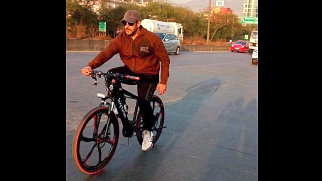 Spotted: Salman Khan Cycling Sporting His 'Tiger Zinda Hai' Look