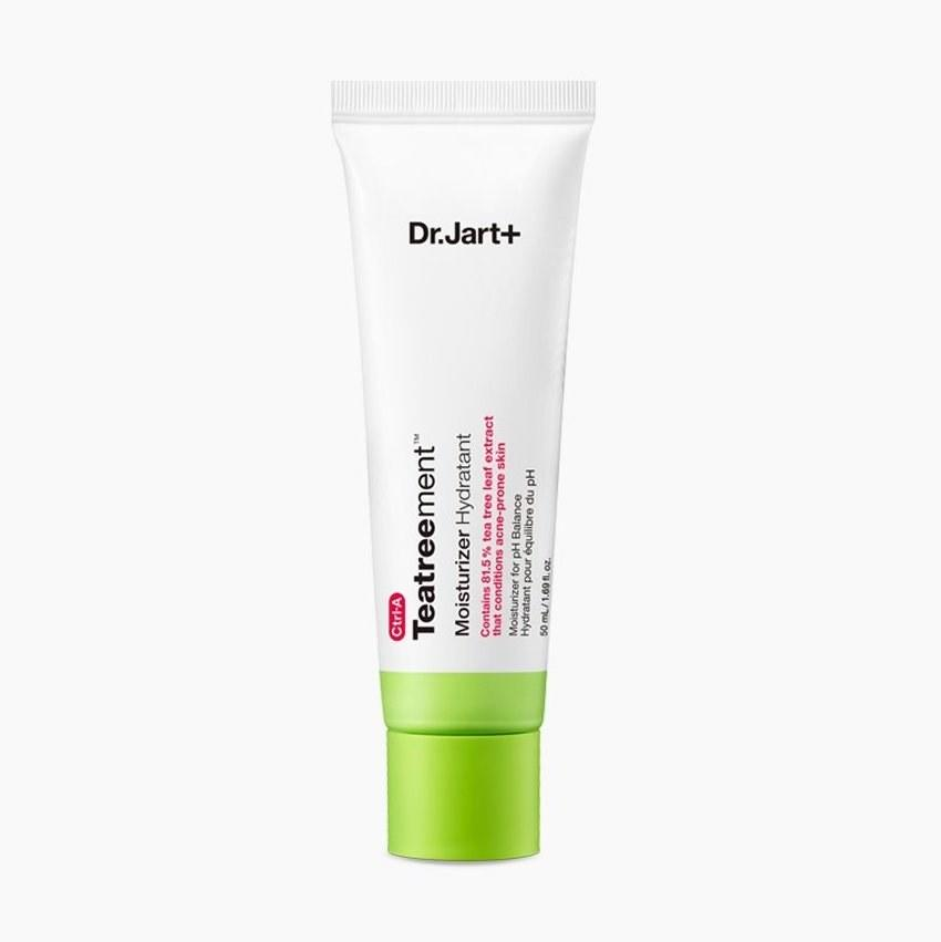 """<p>You've heard it a million times: Even oily, breakout-prone skin <a href=""""https://www.allure.com/gallery/15-best-summer-moisturizers-for-oily-skin?mbid=synd_yahoo_rss"""">needs to be moisturized</a>. But no one said the moisturizer can't have acne-clearing benefits. Get a little extra help healing up any pimples you may have with the 81.5 percent tea tree leaf extract, <a href=""""https://www.allure.com/story/what-does-salicylic-acid-do?mbid=synd_yahoo_rss"""">salicylic acid</a>, and <a href=""""https://www.allure.com/story/niacinamide-skin-care-redness-side-effect?mbid=synd_yahoo_rss"""">niacinamide</a> in this new Dr. Jart+ moisturizer, which hydrates skin without threatening to further clog your pores.</p> <p><strong>$32</strong> (<a href=""""https://shop-links.co/1694537877530037321"""" rel=""""nofollow"""">Shop Now</a>)</p>"""