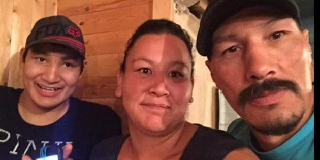 From right to left: Arson Fern, his wife and 19-year-old son Arson Jr.