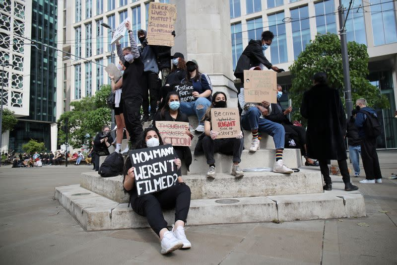 Protest against the death of George Floyd, in Manchester