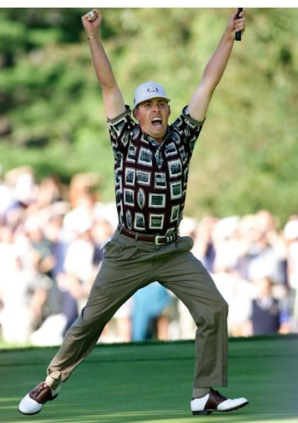 Justin Leonard's putt sparked unsavoury celebrations to end the 'Battle of Brookline'