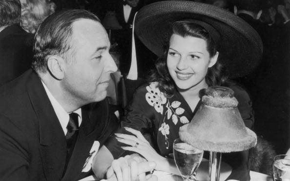 Rita Hayworth with her first husband, Ed Judson, in 1941 - Getty