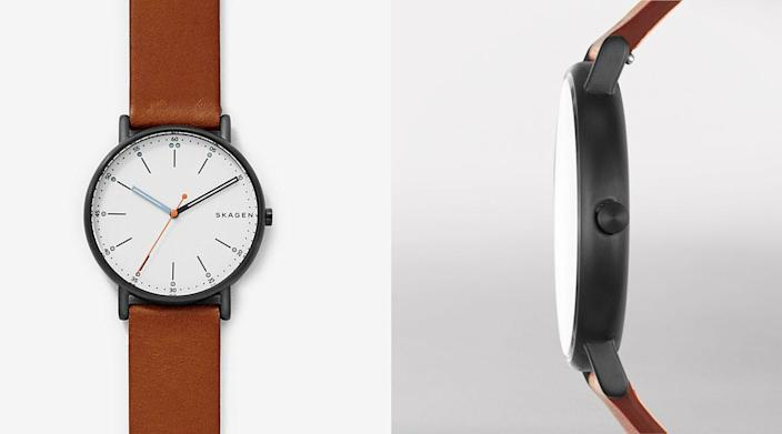 The best gifts for men: Skagen Signatur Brown Leather Watch