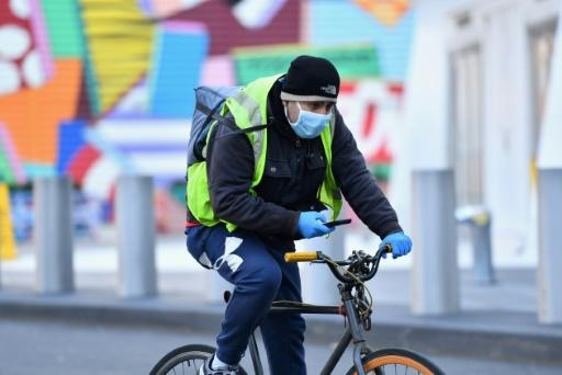 Food delivery personnel for Instacart were among those joining US job actions to press for improved health and safety measures for key employees during the coronavirus lockdown