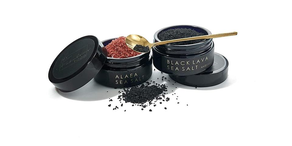 <p>For a special new ingredient, check out <span>My Fabulous Food Luxury Hawaiian Black Lava and Alaea Sea Salt Gift Set</span> ($56).</p>