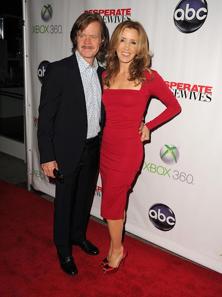 "William H. Macy and Felicity Huffman attend the ""<a target=""_blank"" href=""http://tv.yahoo.com/desperate-housewives/show/36265"">Desperate Housewives</a>"" Series Finale Party at the W Hollywood on April 29, 2012 in Hollywood, California."