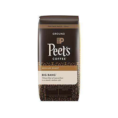 """<p><strong>Peet's Coffee</strong></p><p>amazon.com</p><p><strong>$26.81</strong></p><p><a href=""""https://www.amazon.com/dp/B01MT5YWTW?tag=syn-yahoo-20&ascsubtag=%5Bartid%7C1782.g.33013485%5Bsrc%7Cyahoo-us"""" rel=""""nofollow noopener"""" target=""""_blank"""" data-ylk=""""slk:BUY NOW"""" class=""""link rapid-noclick-resp"""">BUY NOW</a></p><p>Peet's Big Bang, a blend released to celebrate the 50th anniversary of Alfred Peet's influential Berkley coffee shop, captures what people love about this fair-trade brand. Extra smooth with a sugary sweet aftertaste, this rich coffee is best enjoyed with a pour-over <a href=""""https://www.delish.com/kitchen-tools/g4780/best-coffee-maker/"""" rel=""""nofollow noopener"""" target=""""_blank"""" data-ylk=""""slk:coffee maker"""" class=""""link rapid-noclick-resp"""">coffee maker</a>.</p>"""