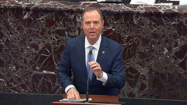 PHOTO: House impeachment manager Rep. Adam Schiff speaks during impeachment proceedings against President Donald Trump in the Senate at the U.S. Capitol, Jan. 21, 2020, in Washington, D.C. (ABC News)