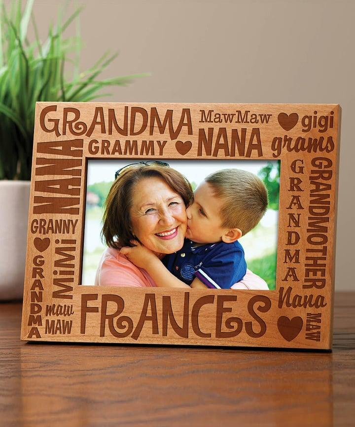 <p>This <span>Words For Grandma Personalized Frame</span> ($17, originally $30) will be an adorable addition to her ever-growing collection.</p>