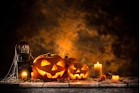 """<p>It's Halloween and it's time to make a scene! If you're huge fan of what the October holiday has to offer, you're likely looking for the right words to express your love for all <a href=""""https://www.goodhousekeeping.com/holidays/halloween-ideas/g36719682/ghost-jokes/"""" rel=""""nofollow noopener"""" target=""""_blank"""" data-ylk=""""slk:ghosts"""" class=""""link rapid-noclick-resp"""">ghosts</a>, <a href=""""https://www.goodhousekeeping.com/holidays/halloween-ideas/g21951058/witch-movies/"""" rel=""""nofollow noopener"""" target=""""_blank"""" data-ylk=""""slk:witches"""" class=""""link rapid-noclick-resp"""">witches</a> and, let's be honest, candy. Whether you're looking for a great <a href=""""https://www.goodhousekeeping.com/holidays/halloween-ideas/a24433143/halloween-instagram-captions/"""" rel=""""nofollow noopener"""" target=""""_blank"""" data-ylk=""""slk:Instagram caption"""" class=""""link rapid-noclick-resp"""">Instagram caption </a>or want to tease the kids in your house with creepy sayings, the Halloween quotes below will fit the bill perfectly. Of course, we've have ideas from your favorite <a href=""""https://www.goodhousekeeping.com/holidays/halloween-ideas/g29579568/classic-halloween-movies/"""" rel=""""nofollow noopener"""" target=""""_blank"""" data-ylk=""""slk:Halloween-themed movies"""" class=""""link rapid-noclick-resp"""">Halloween-themed movies</a> (<em>The Haunted Mansion</em>, <em><a href=""""https://www.goodhousekeeping.com/life/entertainment/g23572971/hocus-pocus-cast-then-now/"""" rel=""""nofollow noopener"""" target=""""_blank"""" data-ylk=""""slk:Hocus Pocus"""" class=""""link rapid-noclick-resp"""">Hocus Pocus</a></em> and <em>The Great Pumpkin Charlie Brown</em>). We also have <a href=""""https://www.goodhousekeeping.com/holidays/halloween-ideas/g22539866/scary-quotes/"""" rel=""""nofollow noopener"""" target=""""_blank"""" data-ylk=""""slk:scary one-liners"""" class=""""link rapid-noclick-resp"""">scary one-liners </a>from authors who really know how to write to fright.</p><p>If you're not feeling quite ready for the spookiest season of them all, allow these quotes to inspire you to get in the mood (b"""