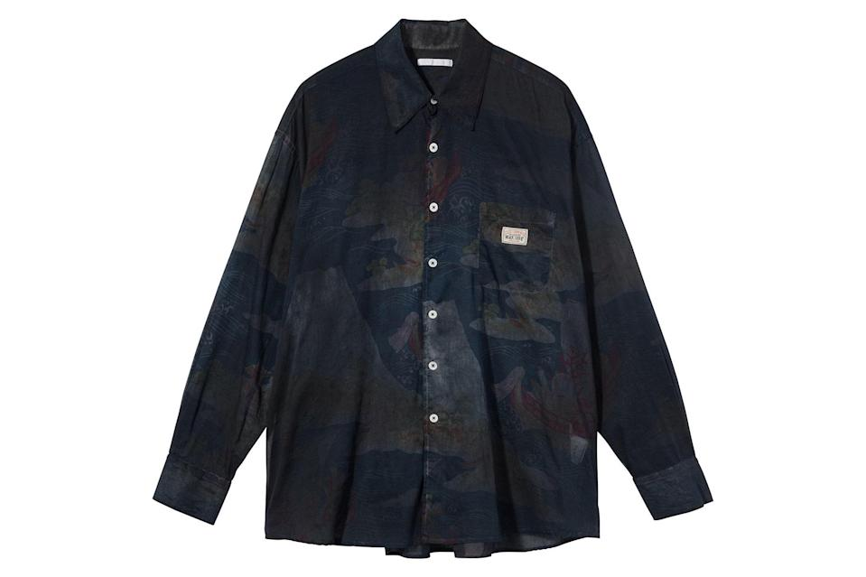 "$205, Stüssy. <a href=""https://www.stussy.com/collections/new-arrivals/products/borrowed-shirt-seven-seas-print?variant=32954033471584"" rel=""nofollow noopener"" target=""_blank"" data-ylk=""slk:Get it now!"" class=""link rapid-noclick-resp"">Get it now!</a>"