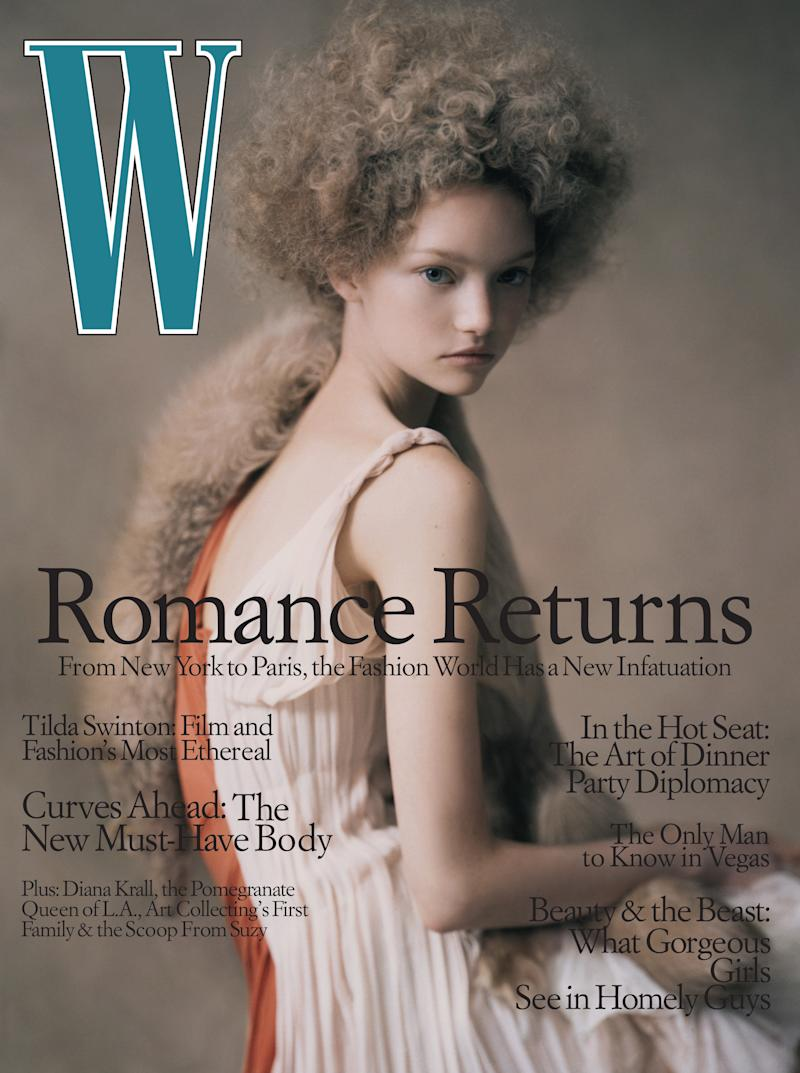 Ward on the cover of W's April 2004 issue, photographed by Paolo Roversi.
