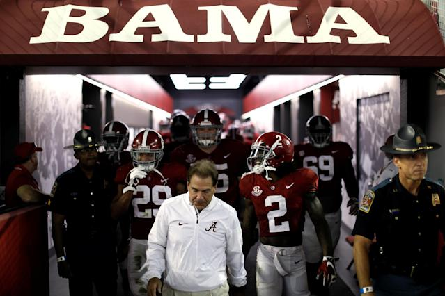 Nick Saban and the Crimson Tide could even lose a game and probably still make the College Football Playoff. (Reuters)