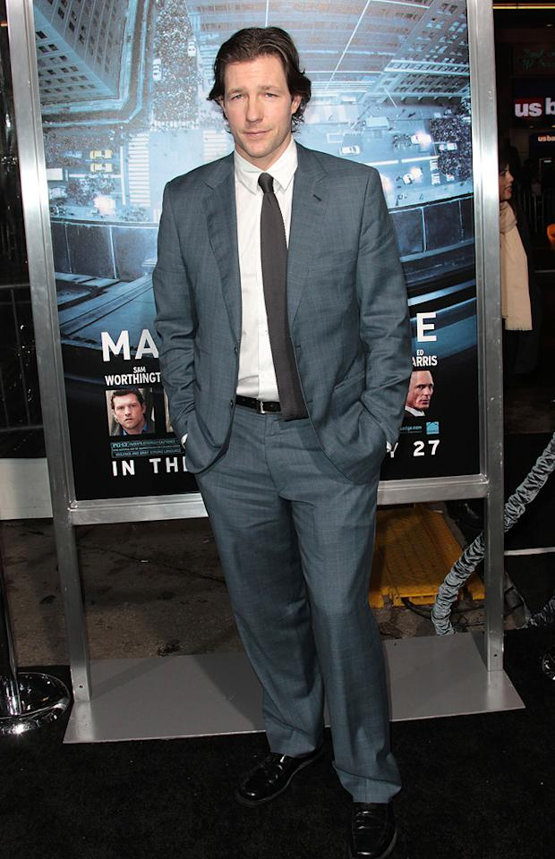 """Ed Burns at the Los Angeles premiere of """"<a href=""""http://movies.yahoo.com/movie/man-on-a-ledge/"""">Man on a Ledge</a>"""" on January 23, 2012."""